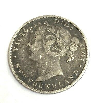 1881 Newfoundland Canada 20 Cent silver, Victoria, KM# 4 low mintage coin
