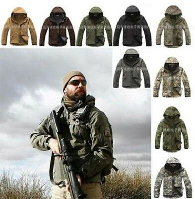 Men's Outdoor Hunting Camping Waterproof Coats Military Tactical Army jackets @