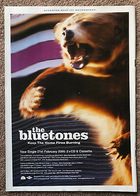 THE BLUETONES - KEEP THE HOME FIRES BURNING 2000 Full page UK magazine ad