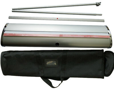"""Retractable Deluxe Aluminum 33.5""""×79""""  Roll Up Banner Stand Show Display"""