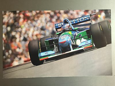1995 Michael Schumacher Benetton Formula 1 Race Car Print, Picture, Poster RARE!