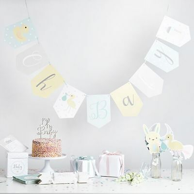 MINT GREEN Oh Baby, Baby Shower Party Decorations, Props & Tableware - UNISEX
