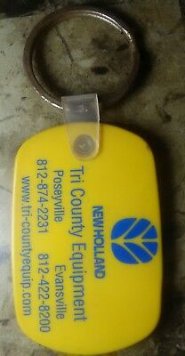New Holland Tractor Key Chain Fob Dealer Tri Co Poseyville Evansville Ind Case