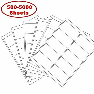"""2"""" x 4"""" Shipping Address Labels for Laser Ink Jet Adhesive 10 UP 500-5000 Sheets"""