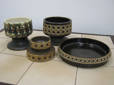 Retro Jersey Studio Pottery, vintage 1970s stoneware collection. Northants