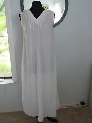 Womens Vintage Bergdorf Goodman Priamo Long 100% Cotton Nightgown Size Small
