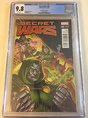 SECRET WARS #5 9.8 CGC (Broderick Doctor Doom Variant Cover) Marvel Comics