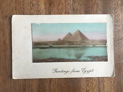 "Antique 1910 ""greetings From Egypt"" Pyramid 4 Page Post Card (Pf1-30)"