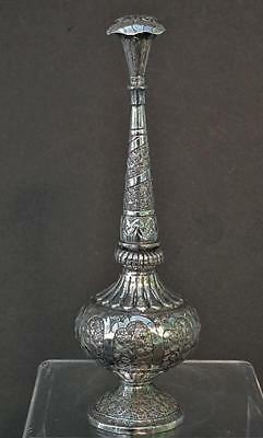Antique Islamic Indian Solid Silver Rosewater Sprinkler 19th Century India