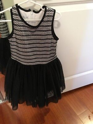 Pippa And Julie Little Girls Size 5 Black And White Dress From