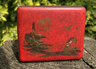 Antique Vintage Beautiful Chinese Oriental Wooden Cigarette Box *