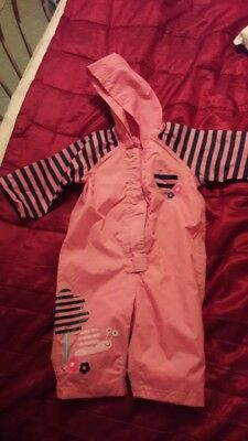 Mothercare 6-9 month girls outdoor all in one splashsuit BNWOT