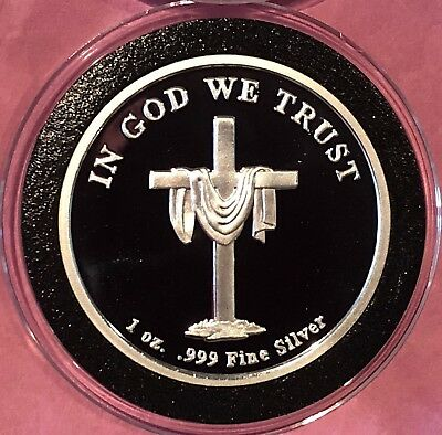 In God We Trust Historic Silver Valley 1 Troy Oz .999 Fine Round Proof Rare Coin