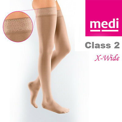 Mediven Elegance® DT290X Thigh Length Compression Stockings With Topband Size 1