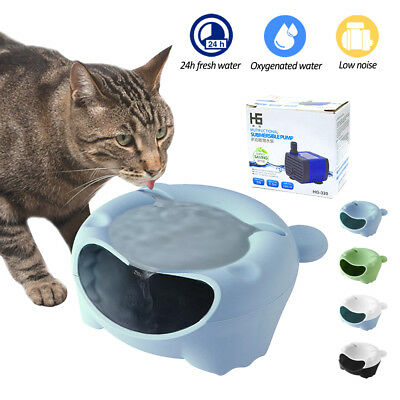 Anti Gulping Cat Dog Bowl Automatic Electric Water Fountain USB for Pets Drink