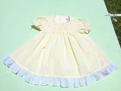 d120168f97a99 BT KIDS BABY girls seersucker dress with smocking size 6-9 months dress  only - $12.99 | PicClick
