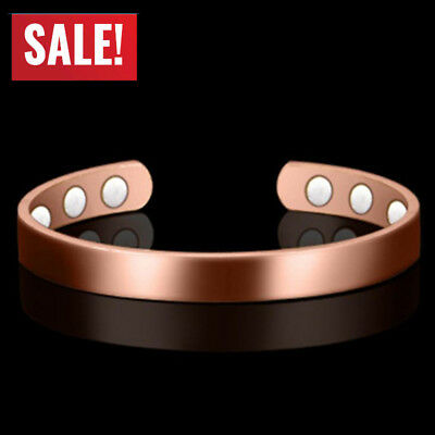 New Pure Copper Magnetic Bracelet Arthritis Therapy Energy For MEN WOMEN US