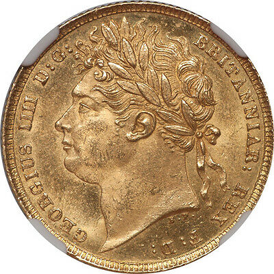 Great Britain 1821 George IIII Gold Sovereign NGC MS-63
