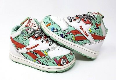 REEBOK Reverse Jam Mid Top MONOPOLY Board Shoes Athletic Sneakers Toddler  Size 4 8bfb6bf4f1