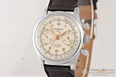 Vintage Officers Lemania 105 Chronograph cal 1270 245 Watch pre 320 / 321