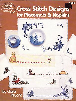 Cross Stitch Booklet :  Table Napkins