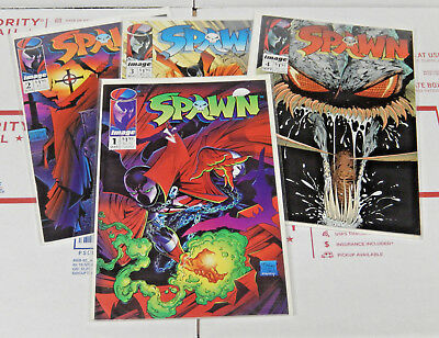 Spawn Comic Books by Image Issues 1 2 3 & 4 Lot Comics