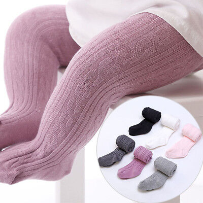 New 0-4 Years Soft Tights Pantyhose Stockings Pure Color Girls Cotton Baby