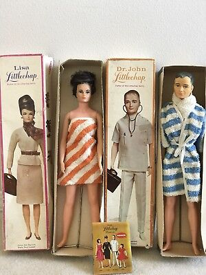 Vintage Remco Dr John Littlechap Doll Father and Mother With Box