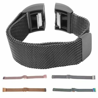 Magnetic Milanese Stainless Steel Watch Band Strap For Fitbit Charge 2 S4L4