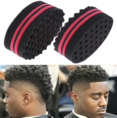 Wave Barber Hair Brush Sponge for Dreads Afro Locs Twist Curl Coil Hair Tools AU