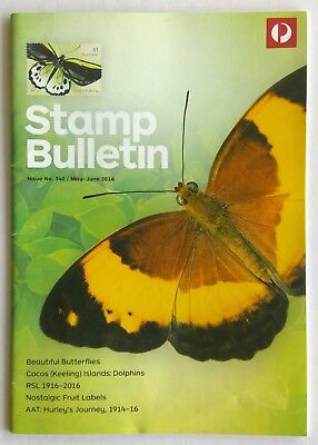 Australia Post Stamp Bulletin Issue No. 340 May - Jun 2016 Beautiful Butterflies