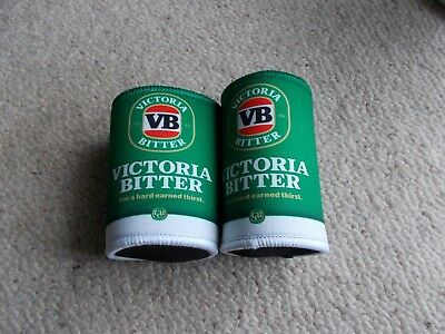 VB VICTORIA BITTER STUBBY HOLDERS X 2 oFF - new,,