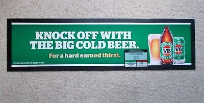 VICTORIA BITTER , VB Bar Mat - NEW - great for the man cave