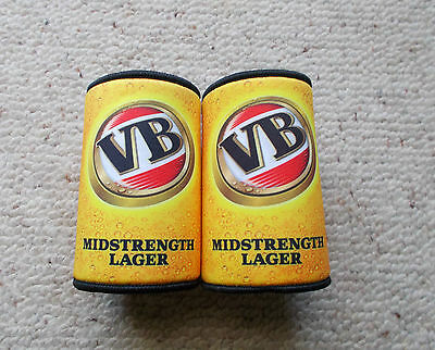 Victoria Bitter  Midstrenght Lager , Vb Stubby Holders X 2 Off   - New