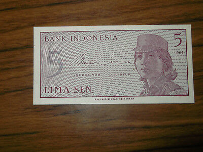 A 5 sen Banknote from Indonesia