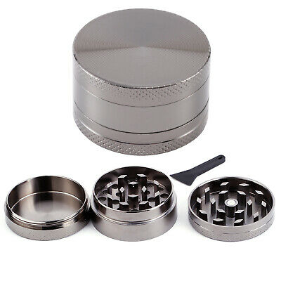 Couleur Carbone 40mm Broyeur a main Moulin Herbe Epice pollen 3 couches Grinder