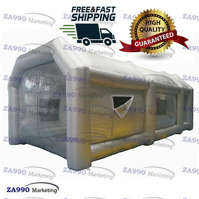 26x13x10ft Inflatable Giant Spray Paint Booth Car Workstation Tent +Fiter System