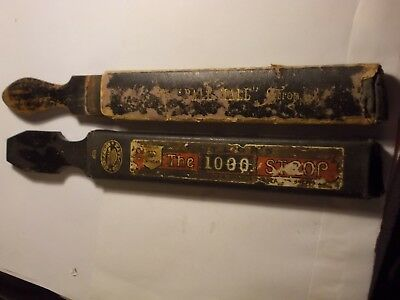2 Vintage Razor STROPS in Boxes. Pall Mall & Taylors 1000. G