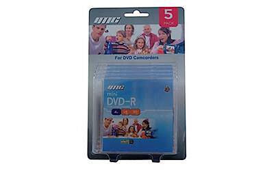 DVD-R mini camcorder discs - 1 pack of 5 disks