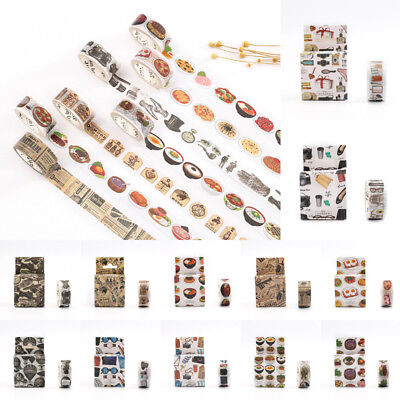 Multi-Purpose 1 Roll Vintage Washi Paper Masking Adhesive Tapes Decor Tape hot