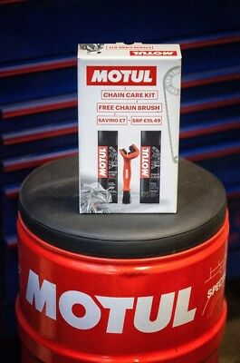 Motul Chain Care Kit Cleaning Cleaner Lube Kit For Motorbike / Motorcycle / Bike