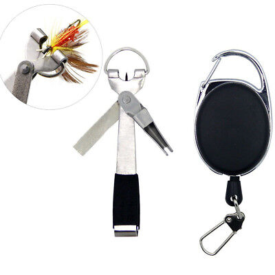 Quick Knot Tool 4 in 1 Fly Fishing Clipper Line Nipper Tying With Zinger Outdoor
