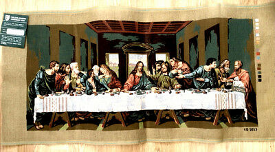 Needlepoint Canvas / Tapestry Of The Religious Last Supper By Leonardo Da Vinci