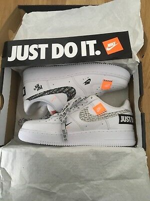 """Nike Air Force 1 White """"Just Do It"""" Kids Size (Gs) Boys Girls Junior & Mens"""