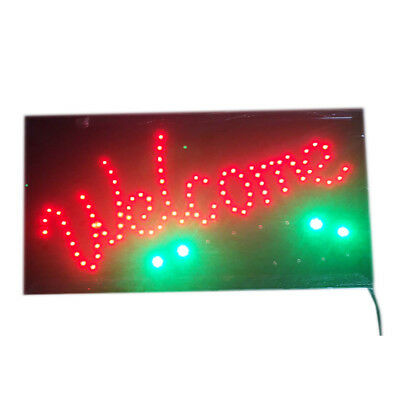 """LED SIGN Animated """"WELCOME"""" Store Shop Restaurant Sign with Haning Chain"""