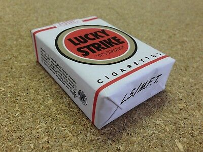 Lucky Strike cigarettes pack WWII Dummy White FAUX paquet blanc 39-45 WW2 guerre