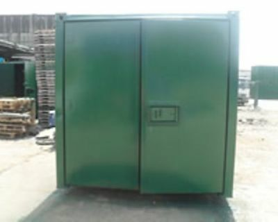 24ft x 9ft ANTI-VANDAL STORAGE CONTAINER IN FOREST GREEN - EX ROCHDALE