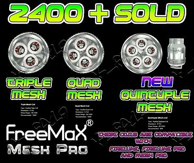 Freemax Mesh Pro Pro Quad Triple Double Mesh Rta/rba Section Fireluke Pro Coils