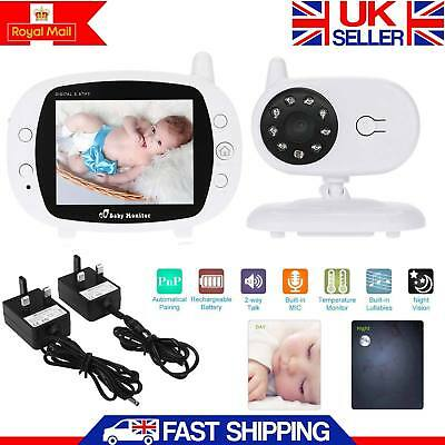 New 3.5″ HD Video Wireless Baby Monitor 2.4GHz Night Vision Security Camera View
