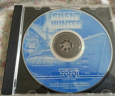 Silent Hunter PC DOS CD ROM vintage retro game with free post